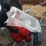 Bubble wrap used as a rain protection. (One of the teams which had their CanSat in the third rocket.)