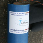 Part of the CanSats' rocket.