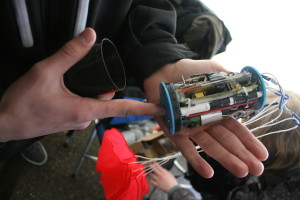 Open CanSat after landing.